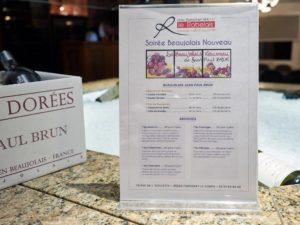 Soiree Beaujolais nouveau au Rabelais