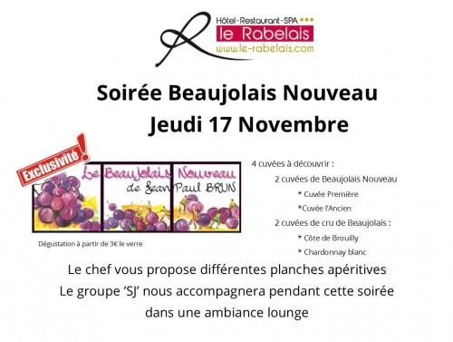 Soirée Beaujolais nouveau de novembre
