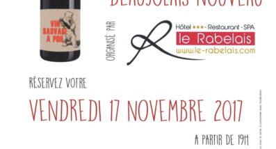 Soirée Beaujolais au Rabelais Fontenay le comte