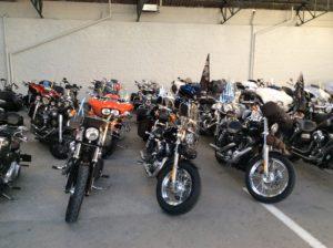 image des motos free chapter harley davidson à l'hôtel restaurant spa le Rabelais Vendée Marais Poitevin