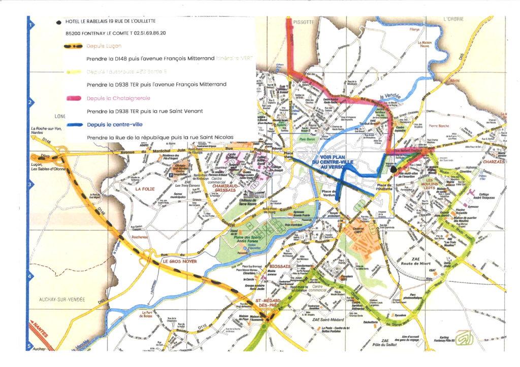 PLan d'accès pour travaux Tour de France Fontenay le Comte