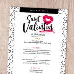 Menu Saint-Valentin à emporter !